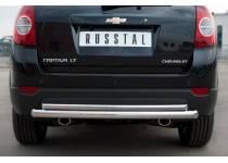 Защита заднего бампера двойная d63/42 для Chevrolet Captiva (2012-2013)