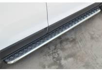 Пороги труба с листом d42 для Chevrolet Captiva (2014-)