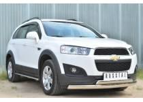 Защита переднего бампера овальная d75/42 для Chevrolet Captiva (2014-)