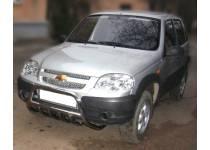 Дуга передняя высокая с защитой картера d53/43 для Chevrolet Niva (2009-)
