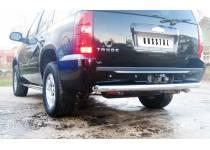 Защита заднего бампера d76 для Chevrolet Tahoe (2008-2012)
