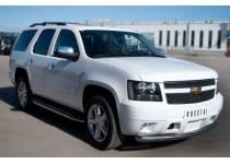 Защита переднего бампера d76 для Chevrolet Tahoe (2012-2015)