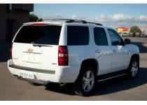 Защита заднего бампера двойная d76/63 для Chevrolet Tahoe (2012-2015)