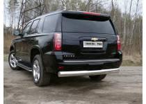 Защита задняя (овальная) 120х60 мм для Chevrolet Tahoe (2016-)