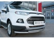 Защита переднего бампера двойная d63/42 для Ford Ecosport (2014-)