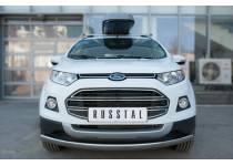 Защита переднего бампера овальная d75/42 для Ford Ecosport (2014-)