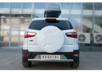 Защита заднего бампера овальная d75/42 для Ford Ecosport (2014-)