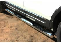 Пороги трубы с проступями d76 для Ford Explorer (2012-)