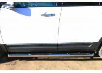 Пороги трубы с площадками d76 для Ford Explorer (2012-)