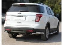 Уголки двойные d60/43 для Ford Explorer (2012-)