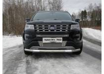 Защита передняя нижняя (с ДХО) 76,1 мм для Ford Explorer (2016-)