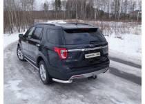 Защита задняя (уголки) 76,1 мм для Ford Explorer (2016-)