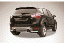 Защита заднего бампера d57 (центральная) для Ford Kuga (2008-2012)