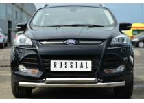 Защита переднего бампера двойная d63/63 для Ford Kuga (2013-2015)