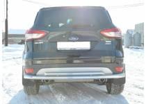 Защита заднего бампера двойная d60/42 для Ford Kuga (2013-2015)