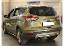 Защита заднего бампера d60 для Ford Kuga (2013-2015)