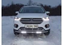 Защита передняя нижняя (с ДХО) 60,3 мм для Ford Kuga (2016-)