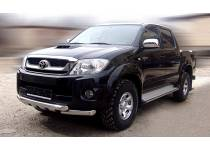 Защита переднего бампера с накладками d76 для Toyota Hilux (2011-2014)