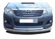 Защита переднего бампера d76/60 для Toyota Hilux (2011-2014)