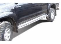 Пороги с накладным листом d60 для Toyota Hilux (2006-2014)