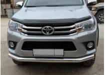 Защита переднего бампера d76 для Toyota Hilux Revo (2015-2017)