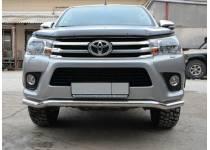Защита переднего бампера d76 (волна) для Toyota Hilux Revo (2015-2018)