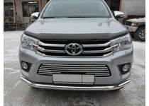 Решетка бампера d16 для Toyota Hilux Revo (2015-2018)