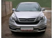 Защита переднего бампера двойная d60/42 для Honda CRV (2010-2012)