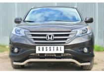 Защита переднего бампера d63 для Honda CRV 2.4 (2013-)