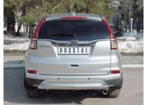 Защита заднего бампера 75х42 дуга для Honda CRV (2015-)