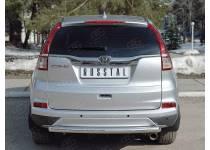 Защита заднего бампера d63 дуга для Honda CRV (2015-)