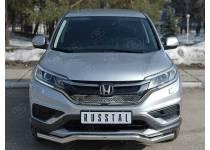 Защита переднего бампера d63 волна для Honda CRV (2015-)