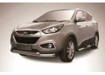 Защита переднего бампера двойная d76/57 для Hyundai IX35 (2009-2015)