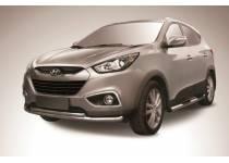 Защита переднего бампера радиус d57/42 для Hyundai IX35 (2009-2015)