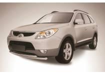 Защита переднего бампера двойная d57/57 для Hyundai IX55