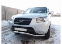 Защита переднего бампера d60 для Hyundai Santa Fe (2006-2010)