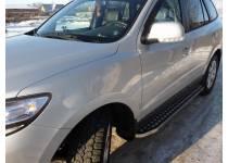 Пороги с листом d20/40 для Hyundai Santa Fe (2006-2010)