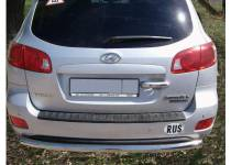 Защита заднего бампера d60 для Hyundai Santa Fe (2006-2010)