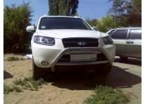 Кенгурятник низкий с защитой картера d76 для Hyundai Santa Fe (2006-2010)
