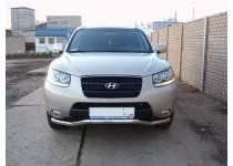 Защита переднего бампера d60 для Hyundai Santa Fe (2010-2012)