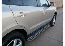 Пороги с листом d20/40 для Hyundai Santa Fe (2010-2012)