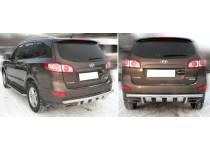 Защита заднего бампера d60 для Hyundai Santa Fe (2010-2012)