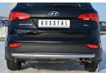 Защита заднего бампера d63 для Hyundai Santa Fe (2013-)
