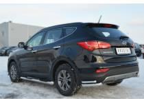 Уголки двойные d63/42 для Hyundai Santa Fe (2013-)