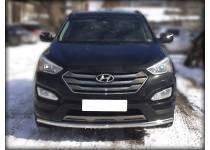 Защита переднего бампера d60 для Hyundai Santa Fe (2013-)
