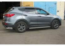 Пороги с листом d43 для Hyundai Santa Fe (2013-)