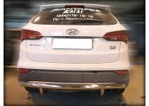 Защита заднего бампера d60 для Hyundai Santa Fe (2013-)