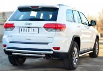Защита заднего бампера двойная d63/63 для Jeep Grand Cherokee (2014-)