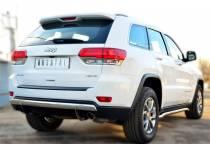 Защита заднего бампера овальная d75/42 для Jeep Grand Cherokee (2014-)