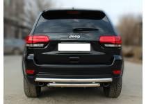 Защита заднего бампера двойная d60/60 для Jeep Grand Cherokee (2014-)